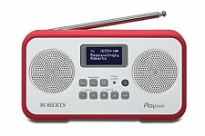 Roberts Play Duo DAB/DAB /FM RDS Stereo Radio Built In Battery Charger RED