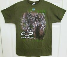 CHEVY TRUCKS TRUETIMBER DEER MILITARY GREEN & CAMO SHORT SLEEVE TEE SHIRT