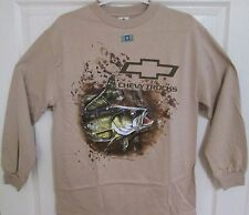 CHEVY TRUCKS TRUETIMBER BASS FISHING SAND LONG SLEEVE TEE SHIRT