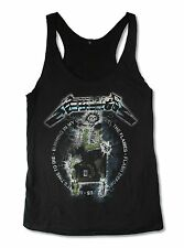 "METALLICA ""RIDE THE LIGHTNING"" BLACK RACER BACK TANK TOP NEW OFFICIAL JRS"