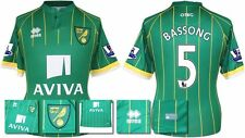 *15 / 16 - ERREA ; NORWICH CITY AWAY SHIRT SS + PATCHES / BASSONG 6 = SIZE*