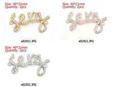 n229m32 2pc Side Ways Crystal Rhinestones Sexy Bracelet Connector Charm Beads