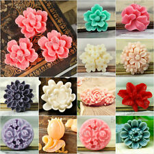 TOP Resin Cabochons Flower Multi-Color Choose Wholesale Fit Cabochon Settings