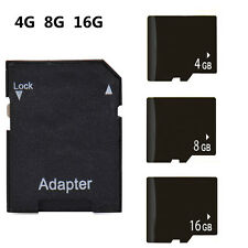 4-16GB Micro SD HC Card with FREE Adapter Class 6 Universal TF Flash Memory Card