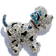 Fashion Christmas Unsex Friends Brooch Pin Crystal Love Animal Dog Party Jewelry