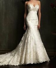 Stock White/Ivory Lace Mermaid Wedding Dress Bridal Gown US size:6 8 10 12 14 16