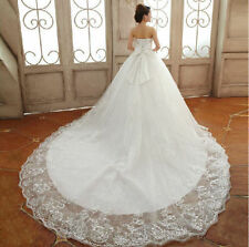New White/Ivory Lace Wedding Dresses Bridal Dress Gown Size 4-6-8-10-12-14-16+++