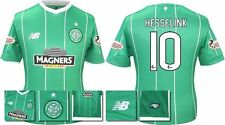 *15 / 16 - NEW BALANCE ; CELTIC AWAY SHIRT SS + PATCHES / HESSELINK 10 = SIZE*