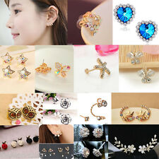Elegant Mixed Style Gold/Silver Plated Rhinestone Pearl Earring Ear Stud Jewelry