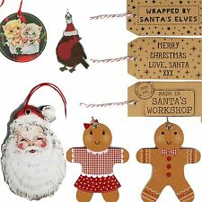 BIG SETS CHRISTMAS LUXURY GIFT TAGS VTG BROWN CARD RETRO PRESENT LABELS TWINE