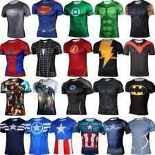 Superhero Marvel Costume Cycling T-Shirts Short Sleeve Bicycle Jersey Sports Top
