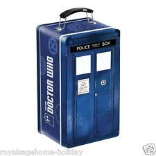 16170 Doctor Who Tardis-Shaped Tin Tote Lunch Box Sci Fi BBC Time Machine