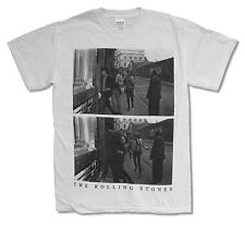 THE ROLLING STONES RUNNING WHITE T-SHIRT NEW OFFICIAL ADULT