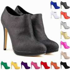 Ladies Fashion Platform High Heels Womens Casual Ankle Boots Shoes UK Size 2-9