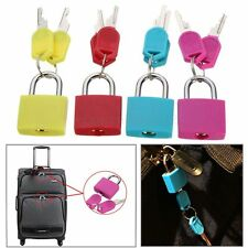 Brass 20mm Travel Luggage Suitcase Laptop Bag Padlock Lock With Two Keys Kit Set