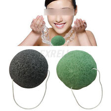 2 Colors Natural Konjac Konnyaku Jelly Fiber Face Cleansing Wash Sponge Puff Hot