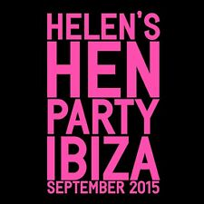 PERSONALISED NEON HEN PARTY T-SHIRT HEN NIGHT PERSONALISED TOPS HEN NIGHT VEST