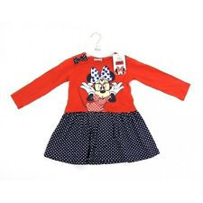 NEW Girls Disney Minnie Mouse Dress Ages: 18-24M,2-3,3-4,4-5,5-6 Years