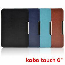 """Magnetic Leather Cover Case Protecting Skin for kobo touch 6"""" eReader eBook"""