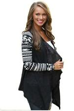 Fashion Women Irregular Sweater Casual Long Sleeve Cardigan Knit Coat Outwear B
