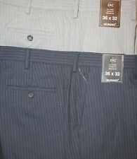 ! MURANO ZAC Pinstriped Mens Dress Pants Flat Front 36 32 40 NWT F-750 MSRP69.50