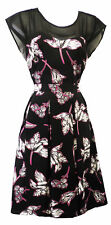 New Ladies Plus Size Art Nouveau Deco 1930's 40's WW2 Wartime Swing Party Dress