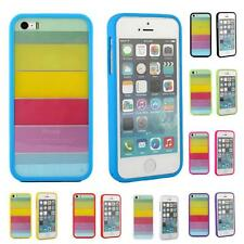 iPhone 5 5S Case, RAINBOW Hybrid Rubber PC Bumper Case Cover for Apple  +Film