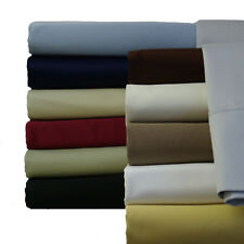King Cotton sheets 600 Thread count Solid Collection