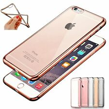 Clear Thin Crystal Glossy Plating Silicone TPU Case Cover for iPhone 6s&6s Plus