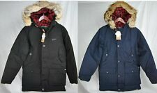 NEW WOOLRICH ARCTIC PARKA MENS BLACK NAVY 550 FILL GOOSE DOWN JACKET AUTHENTIC