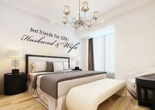 Husband And Wife Best Friends For Life Vinyl Decal Wall Art Mural Decor Stickers