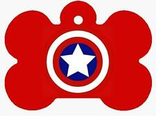 CAPTAIN AMERICA Personalized PET ID TAG Custom Any Name Dog Tag Printed 2 Sides