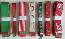 1yardChristmas,Snowflake,Dots & Candy Stripe Grosgrain Ribbon ~ Assorted Designs