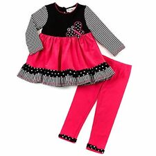 RARE EDITIONS® 2T, 3T, 4T  Girls 2 Pc. Butterfly Corduroy Dress/Legging Set *NWT