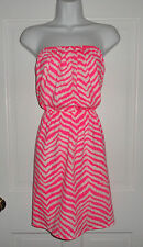 NWT LILLY PULITZER TROPICAL PINK ZEBRON WINDSOR DRESS M L XL