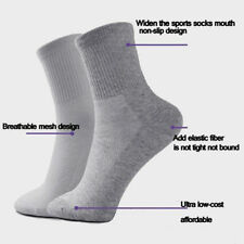 5 Pairs Men's Casual Socks Winter Thermal Soft Cotton Mesh Sport Sock Pure Color