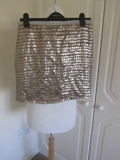 BNWT BELOVED @ DARLING SILVER FAUX LEATHER MINI SKIRT MANY SIZES RRP 49.00