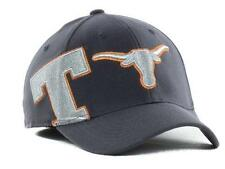 NWT NEW University of Texas Longhorns Hat Stretch Fitted Cap Molten Charcoal *W6