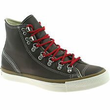 MENS CONVERSE HIKER HI LEATHER BOOTS SIZE UK 6 - 9 CHOCOLATE 132380C