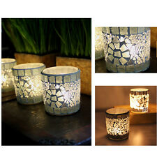 Mosaic Glass Candle Holder Trendy Tea Light Candlestick For Home Party Wedding
