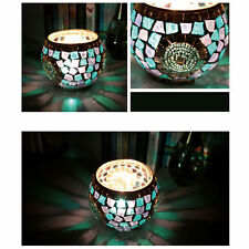 Trendy Mosaic Glass Candle Holder Star Tealight Candlestick Home Wedding Decor
