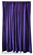 """156"""" High Solid Purple Velvet Curtain Long Panel Theatrical Staging Tall Drapes"""