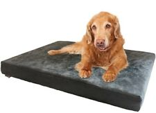 Gray Suede Memory Foam Waterproof Pet Bed for Small Medium To Extra Large XL Dog