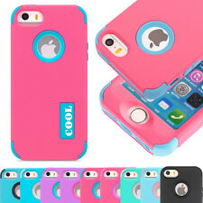 "Hybrid Shockproof Hard Tuff Rugged Cover Case For Apple iPhone 6 6s 4.7"" 5.5"