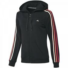 Adidas Womens/Ladies Hooded Climalite Hoody Jacket Hoodie Jumper Black XS S M