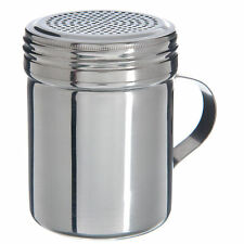 Flour Dredger Shaker 10.5oz Chocolate Sugar Cappuccino Strew Top Stainless Steel