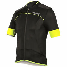 SANTINI SMS 2BCOOL SS LITE AERO BIKE JERSEY BLACK/FLURO YELLOW 2016
