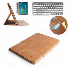 Bluetooth Keyboard + Real Genuine Leather  Case Cover For Apple iPAD MINI 3 2 1
