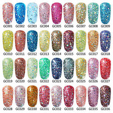 Elite99 Glitter Color Gel Nail Polish Soak Off UV LED Manicure Top Coat Primer