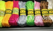 3MM Chinese Knot Satin Nylon Braided Cord Beading Rattail Cords 20M 14color